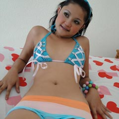 Cute Thai Girl With Braces Named Febe Strips Out Of Her Bikini - Picture 2